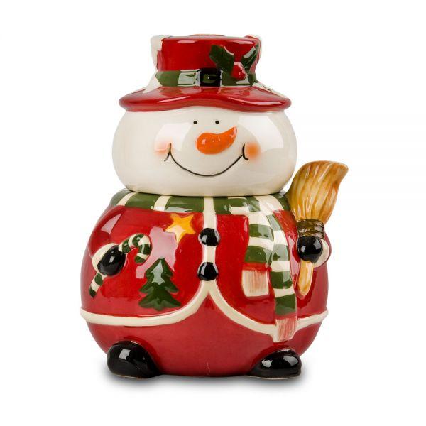 Κεραμικό κουτί χιονάνθρωπος
