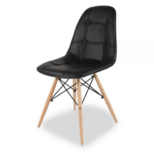 Καρέκλα 44χ53χ83 εκ., μαύρη