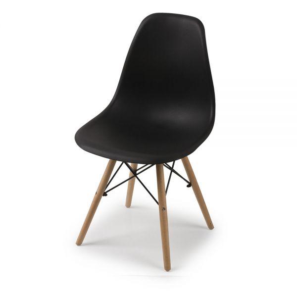 Καρέκλα 46χ51χ82 εκ., μαύρη