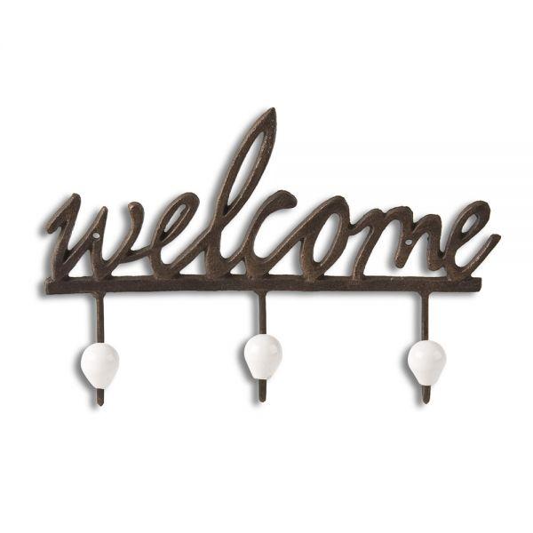 """ΚΡΕΜΑΣΤΡΑ ΤΟΙΧΟΥ 31χ6χ20.5εκ. 3-ΠΛΗ ΜΕΤΑΛ. """"WELCOME"""""""