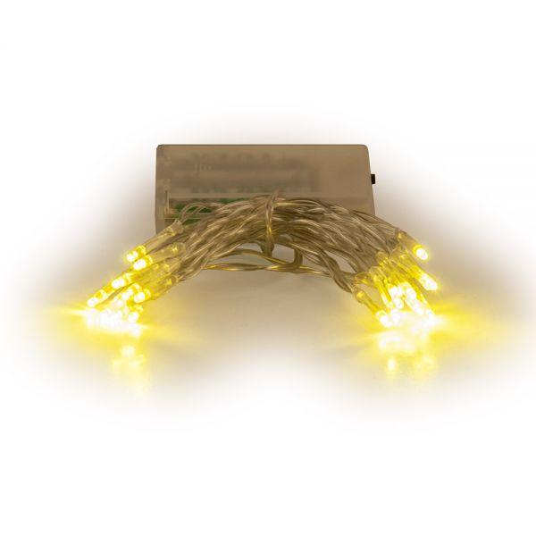 20 λαμπάκια LED μπαταρίας, λευκά