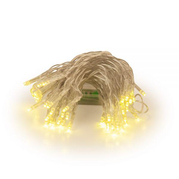 50 λαμπάκια LED μπαταρίας, λευκά