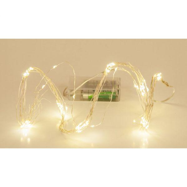 """80 λαμπάκια LED μπαταρίας """"χταπόδι"""", λευκά"""