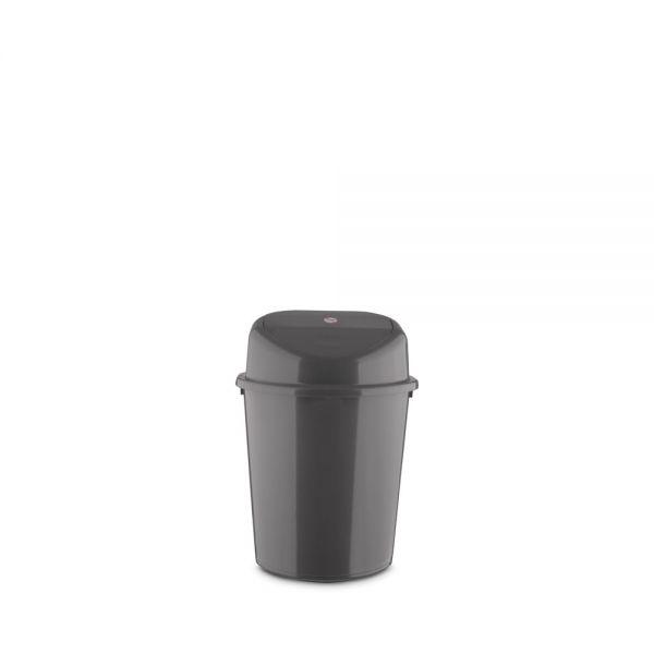 Κάδος απορριμμάτων 4L με αιωρούμενο καπάκι, ανθρακί