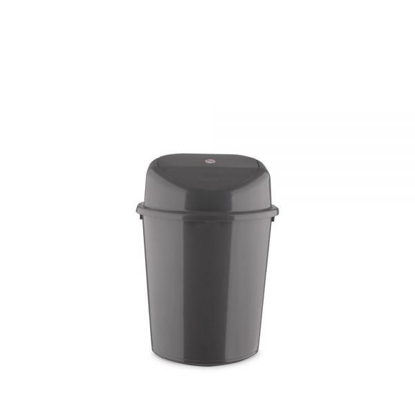Κάδος απορριμμάτων 8L με αιωρούμενο καπάκι, ανθρακί