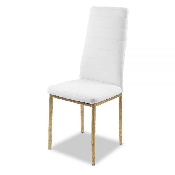 Καρέκλα 52χ40.5χ97 εκ., λευκή