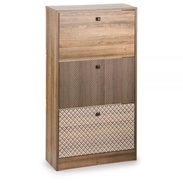 Ξύλινη παπουτσοθήκη με 3 συρτάρια