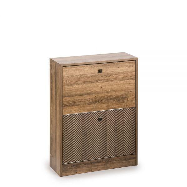 Ξύλινη παπουτσοθήκη με 2 συρτάρια