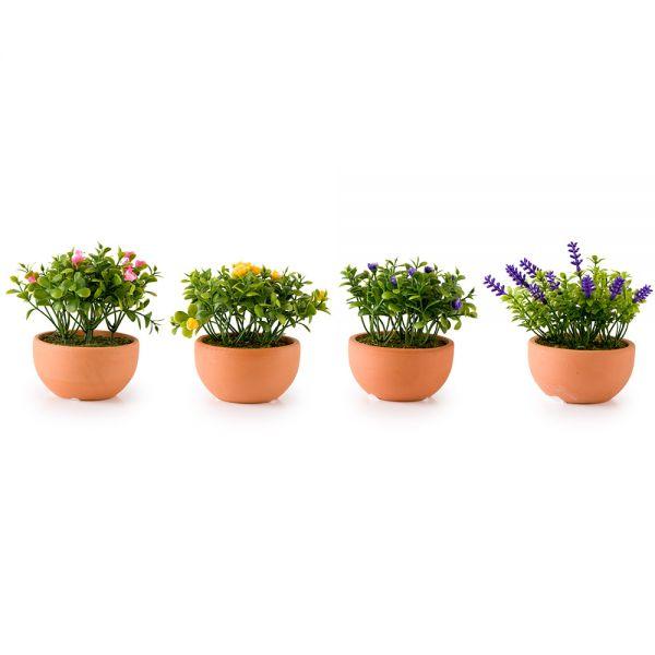 Γλαστράκι με τεχνητό φυτό λουλουδιών