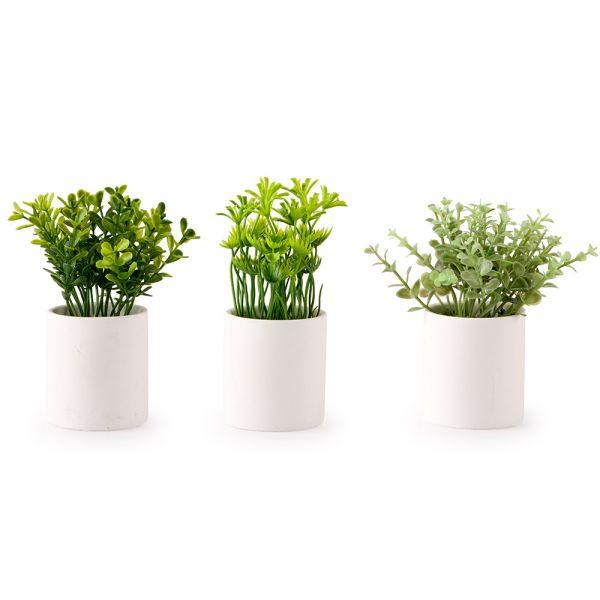 Γλαστράκι με τεχνητό φυτό πρασινάδας