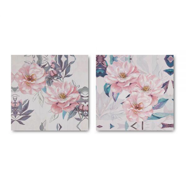 Πίνακας ελαιογραφίας άνθη 40χ40εκ. σε 2 σχέδια
