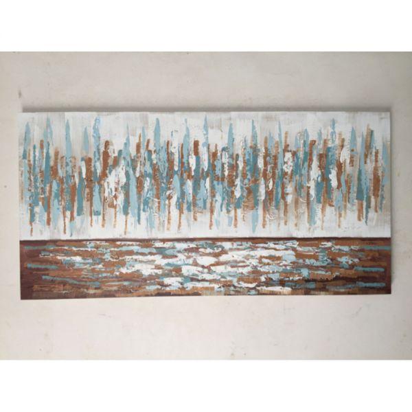 Πίνακας ελαιογραφίας αφηρημένη σύνθεση, 120x60 εκ.