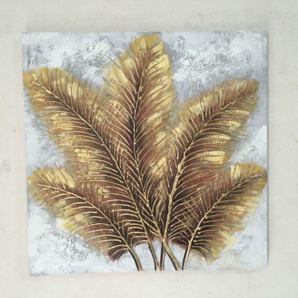 Πίνακας ελαιογραφίας φθινοπωρινά κλαδιά, 60x60 εκ.