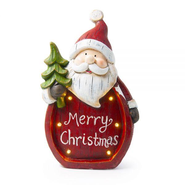 Κεραμικός Άγιος Βασίλης με LED φωτισμό