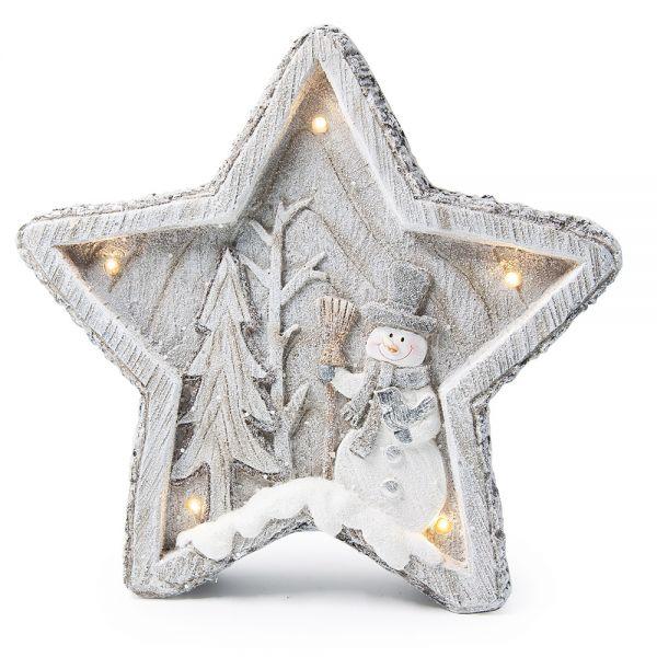 Κεραμικό Αστέρι με LED φωτισμό