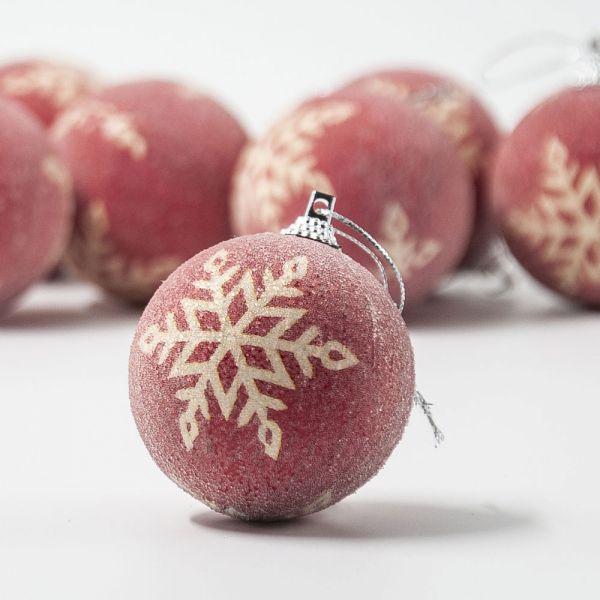 Σετ 8 χριστουγεννιάτικες μπάλες