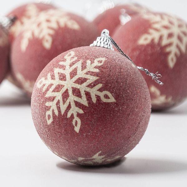 Σετ 6 χριστουγεννιάτικες μπάλες