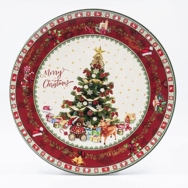 """ΠΙΑΤΕΛΑ ΣΤΡΟΓΓΥΛΗ 40ΕΚ. """"CHRISTMAS TREE"""""""