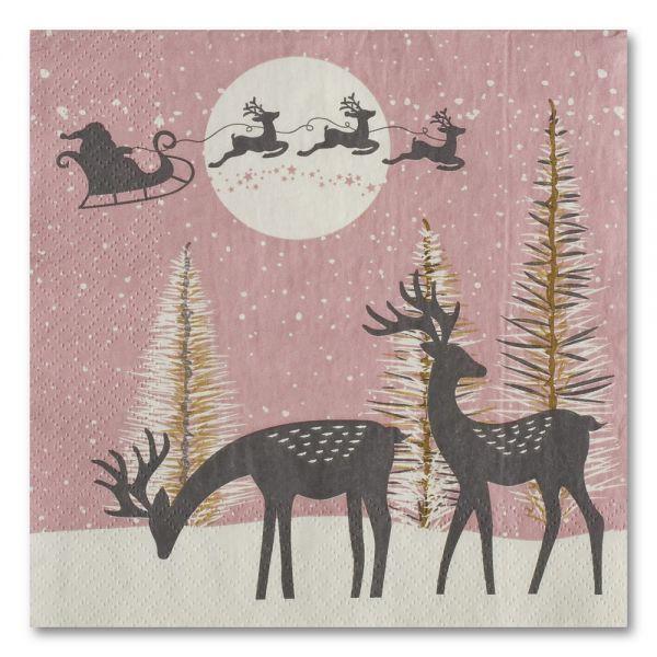 Χριστουγεννιάτικες χαρτοπετσέτες 33χ33 εκ.