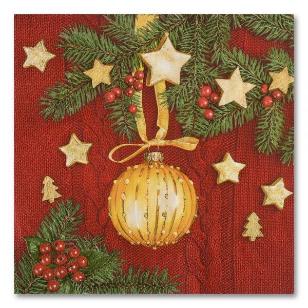 Χριστουγεννιάτικες χαρτοπετσέτες 33x33 εκ.