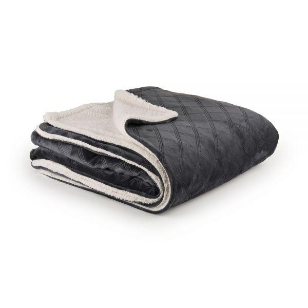 Υπέρδιπλο κουβερτοπάπλωμα με ανάγλυφο σχέδιο
