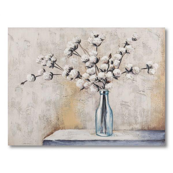 Πίνακας ελαιογραφίας βάζο με λουλούδια, 60χ80 εκ.