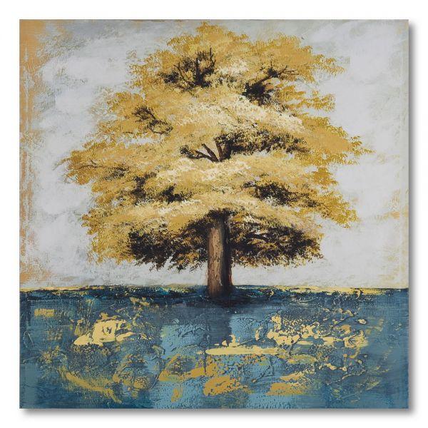 Πίνακας ελαιογραφίας φθινοπωρινό τοπίο, 80χ80 εκ.
