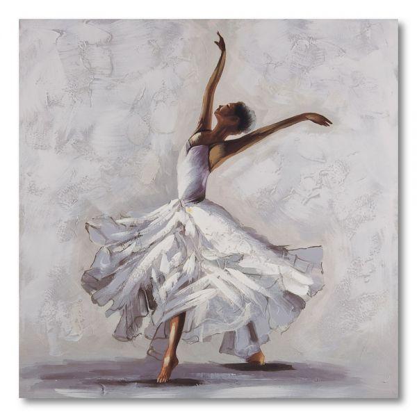 Πίνακας ελαιογραφίας μπαλαρίνα, 80χ80 εκ.