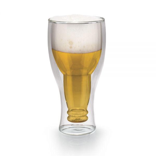 Γυάλινο ποτήρι μπύρας 420 ml με διπλό τοίχωμα