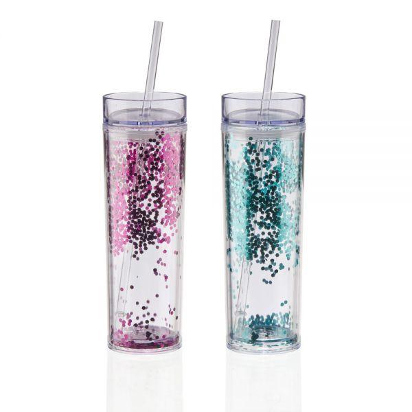 Ποτήρι 470 ml με διπλό γκλίτερ τοίχωμα