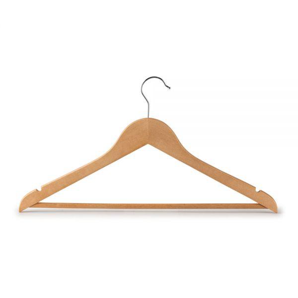 Σετ 5 κρεμάστρες ρούχων, ξύλινες με ράβδο