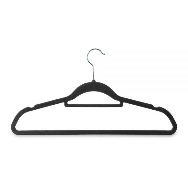Σετ 10 κρεμάστρες ρούχων βελούδινες, με ράβδο για γραβάτες