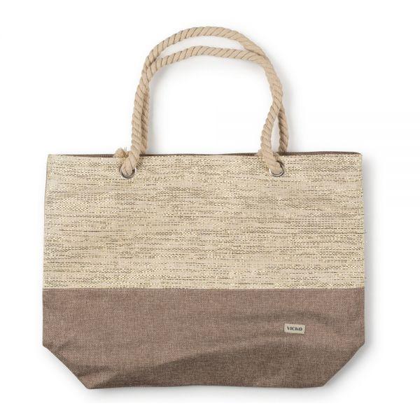 Τσάντα θαλάσσης 53χ40χ(39χ14)εκ. μπεζ