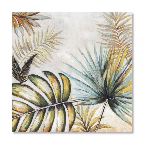 Πίνακας ελαιογραφίας φύλλα, 80χ80 εκ.