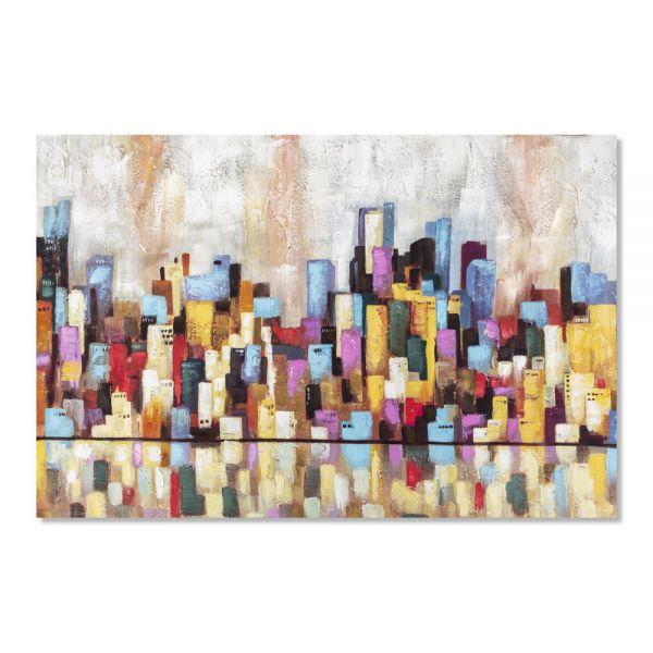 Πίνακας ελαιογραφίας πόλη, 120χ80χ2.8 εκ.