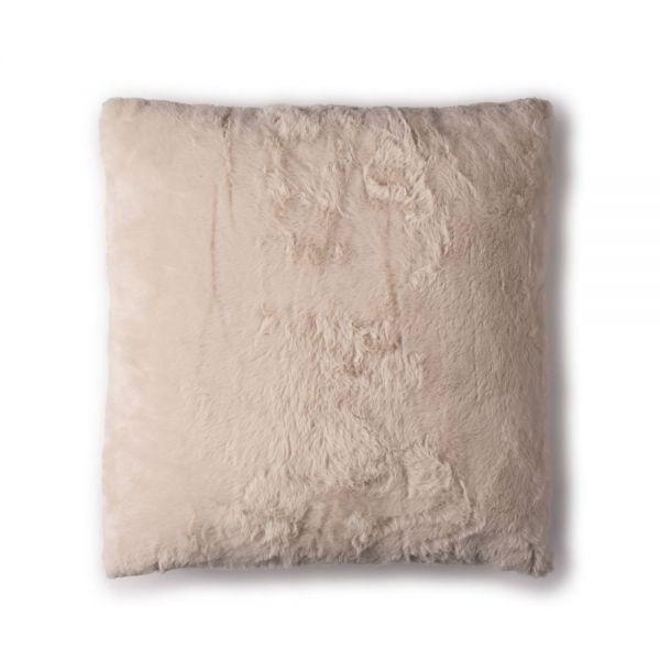 Γούνινο μαξιλάρι 45x45 εκ., κρεμ