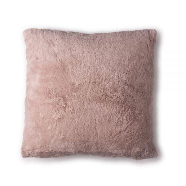 Γούνινο μαξιλάρι 45χ45 εκ., dusty pink